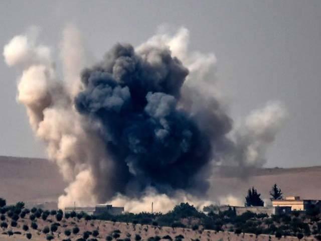 شام میں امریکی فورسز کی بمباری سے 83 شامی فوجی ہلاک، 100 زخمی