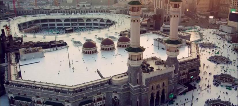مسجد الحرام میں گھومتا ہوا والا گنبد