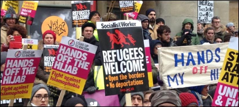 برطانیہ میں نسل پرستی کے خلاف مظاہرہ، ہزاروں افراد کی شرکت