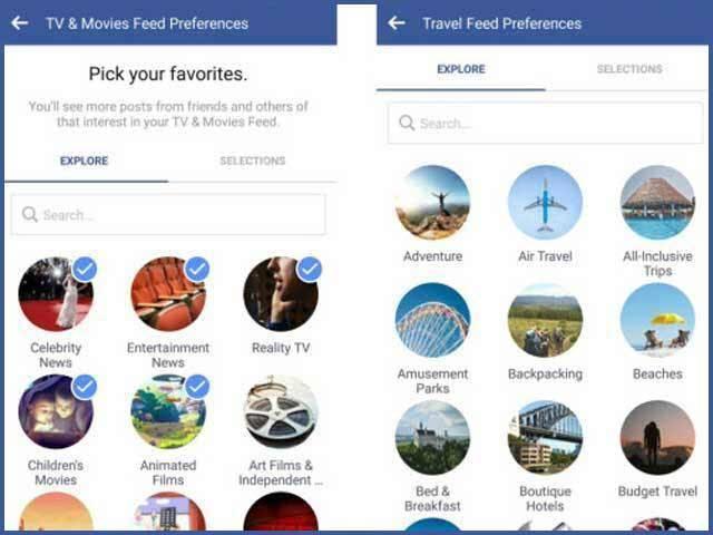 فیس بک کا نیوز فیڈ میں موضوعات شامل کرنے کا فیصلہ