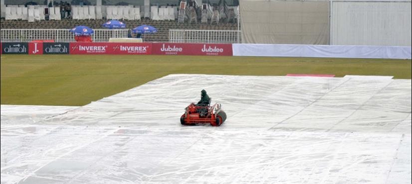 راولپنڈی ٹیسٹ: ایک بھی گیند ہوئے بغیر چوتھے دن کا کھیل ختم