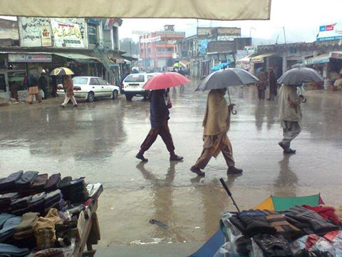 بونیر میں موسلادھار بارش کا سلسلہ دوسرر روز بھی جاری