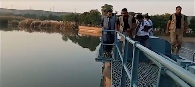 عثمان بزدار کا نہر اپر جہلم کی بحالی کا کام مکمل ہونے پر اسپل وے کھولنے کا افتتاح