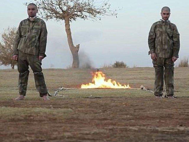 داعش نے 2 ترک فوجیوں کو زندہ جلا ڈالا