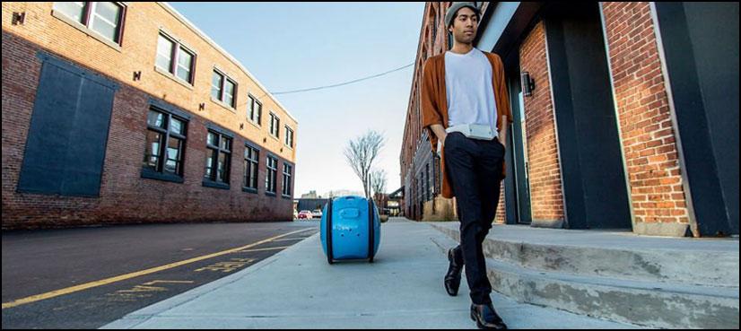 آپ کا سامان سنبھال کر، آپ کے پیچھے پیچھے چلتا بیگ