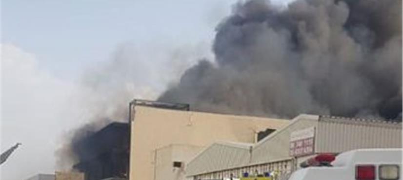 متحدہ عرب امارات، ویئر ہاؤس میں خوفناک آگ بھڑک اٹھی