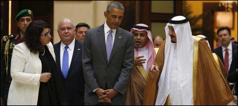ریاض: امریکی صدر براک اوباما کی سعودی فرمانرواں سے ملاقات
