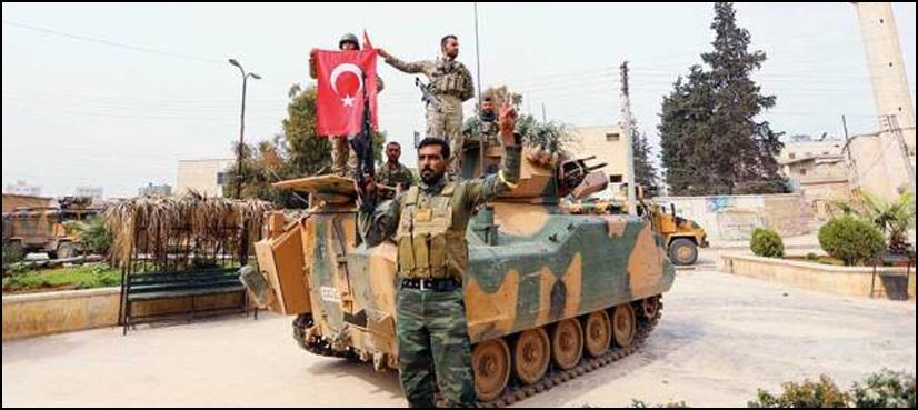 شام جنگ،ترک افواج نے عفرین کا کنڑول سنبھال لیا