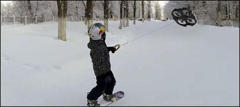 برف پر 'ڈرون بورڈنگ' کریں