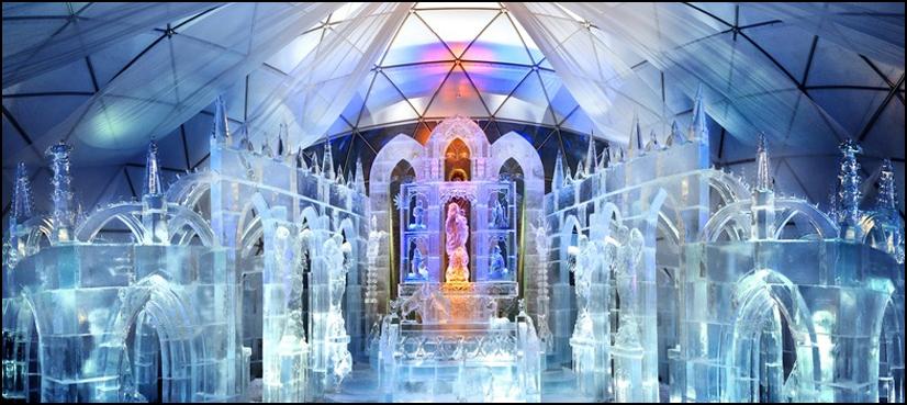سلواکیہ میں برف سے بنا انوکھا گرجا گھر