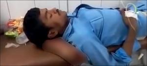 بھارت: غفلت کی انتہا، اسپتال میں زخمی کی کٹی ہوئی ٹانگ کو ہی تکیہ بنا دیا