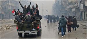 شامی فوج کا 6سالہ جھڑپ کے بعد حلب پر مکمل کنٹرول حاصل کرنے کا دعویٰ، جشن کا سماں