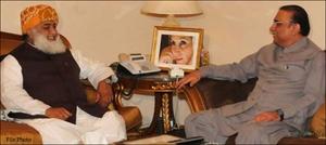 مولانا فضل الرحمان کی آصف علی زرداری سے ملاقات