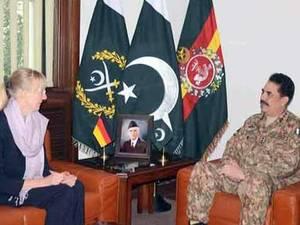 آرمی چیف جنرل راحیل شریف سے جرمن سفیر کی ملاقات