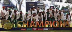 پاکستان کی چیمپئنزٹرافی میں جیت سال کا بہترین لمحہ قرار